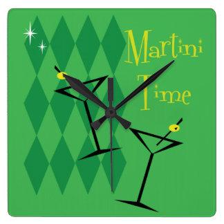 Pulso de disparo de parede retro de Martini Relógio Quadrado