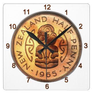 Pulso de disparo de Tiki da moeda de um centavo de Relógio Quadrado