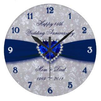 Pulso de disparo do aniversário de casamento do relógio de parede