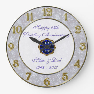 Pulso de disparo do aniversário de casamento do relógios para pendurar