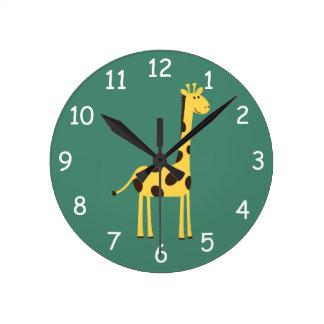 Pulso de disparo do girafa relógio para parede
