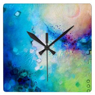 Pulso de disparo quadrado decorativo colorido relógio quadrado