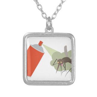 Pulverizador de inseto colar banhado a prata