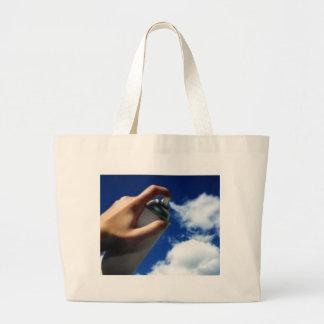 Pulverizador em nuvens sacola tote jumbo