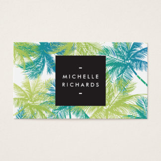 Pulverize cartão de visita azul/verde do salão de