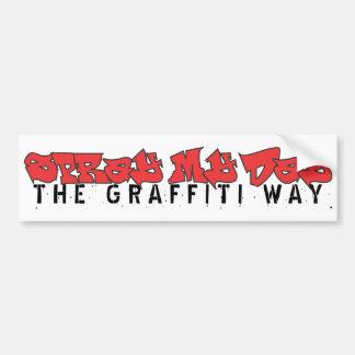 Pulverize meu dia - a maneira dos grafites de dize adesivo para carro