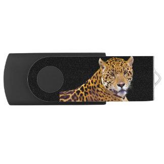 Puma manchado de Jaguar em uma movimentação do Pen Drive Giratório