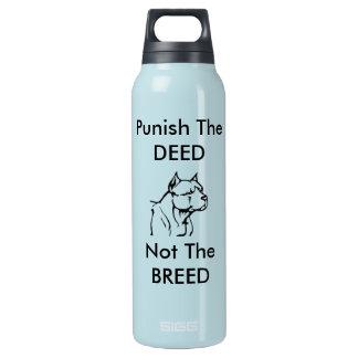 Puna a ação, não a raça - garrafa de água