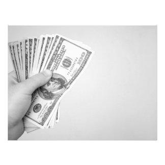 Punhado do dinheiro panfleto