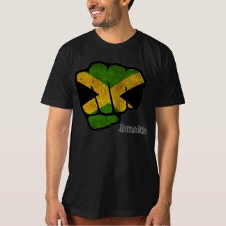 punho da bandeira de jamaica camiseta