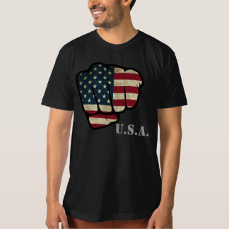 Punho da bandeira dos EUA Tshirts