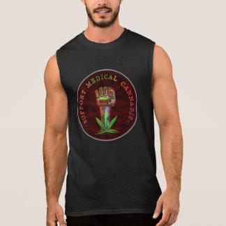 punho médico do cannabis do apoio de Valxart.com Camiseta Sem Manga