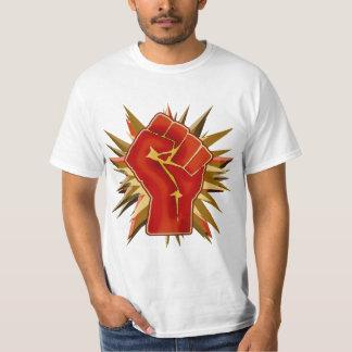 Punho vermelho da solidariedade a personalizar no camiseta