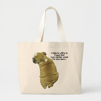 Punhos e bacon do amor de filhote de cachorro do b bolsa para compra