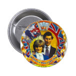 Punk 80' do vintage Charles e Di wedding sroyal Pins