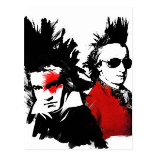 Punk de Mozart Beethoven Cartão Postal