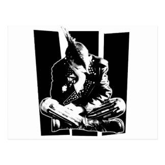 Punk DESPERDIÇADO Cartão Postal