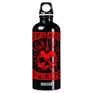 punk rock para sempre garrafa d'água de alumínio