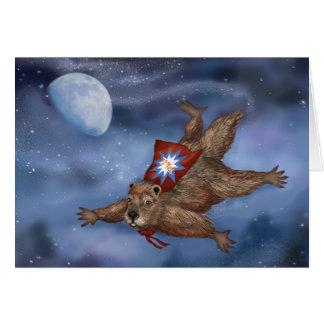 Punxsutawney Phil, cartão do super-herói do roedor
