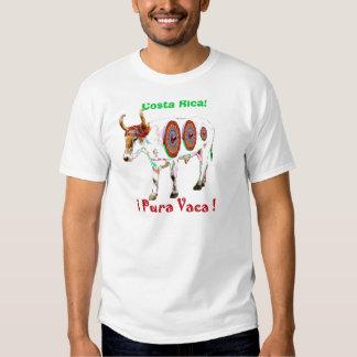 ! Pura Vaca! Camisa da vaca de Costa Rica Camisetas