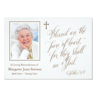 Puro de cartões de agradecimentos do funeral do