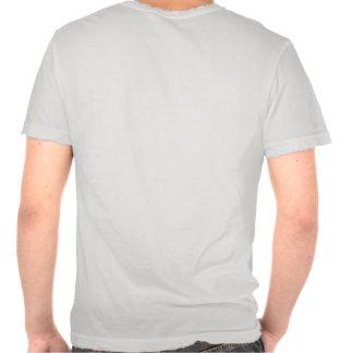 Puro produzido - os homens afligiram o tecido camiseta