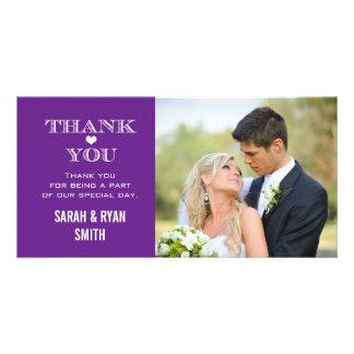 Purple Heart que Wedding o obrigado da foto você Cartão Com Foto