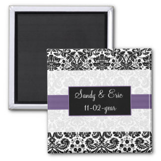 purple  Save the date magnet Magnet