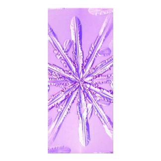 purple_snowflake modelo de panfleto informativo