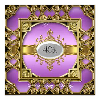purpleGold roxo do convite de aniversário