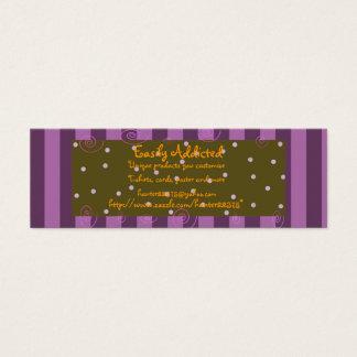 purplestripe magro cartão de visitas mini