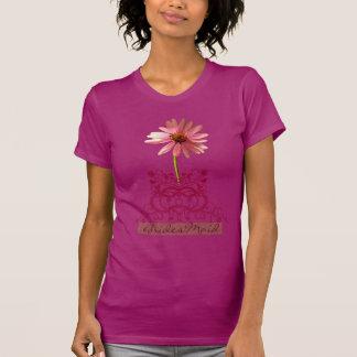 Purpurea roxo do Echinacea da flor do cone Camiseta