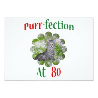 Purr-fection 80 convite personalizado
