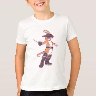 Puss na ilustração das botas camiseta