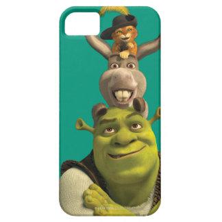 Puss nas botas, asno, e Shrek Capa Barely There Para iPhone 5