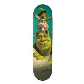 Puss nas botas, asno, e Shrek Shape De Skate 18,4cm