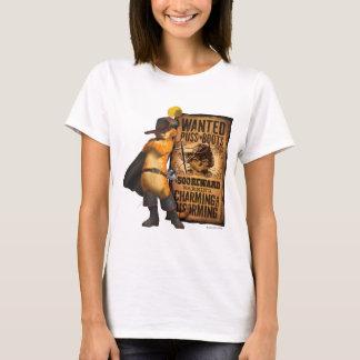 Puss querido nas botas (carvão animal) camiseta