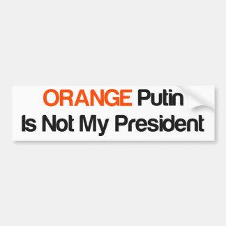 Putin alaranjado não é meu presidente adesivo para carro