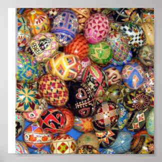 Pysanky - ovos da páscoa ucranianos pôster