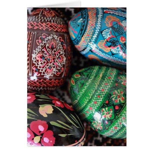 Pysanky ucraniano - ovos da páscoa cartao