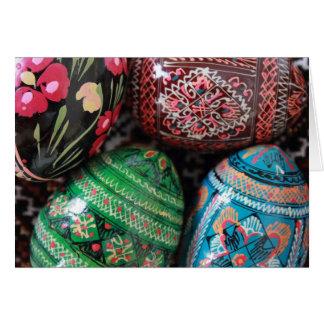 Pysanky ucraniano - ovos da páscoa cartão comemorativo