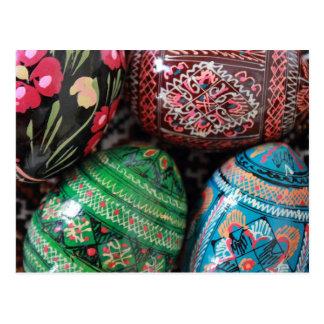 Pysanky ucraniano - ovos da páscoa cartão postal