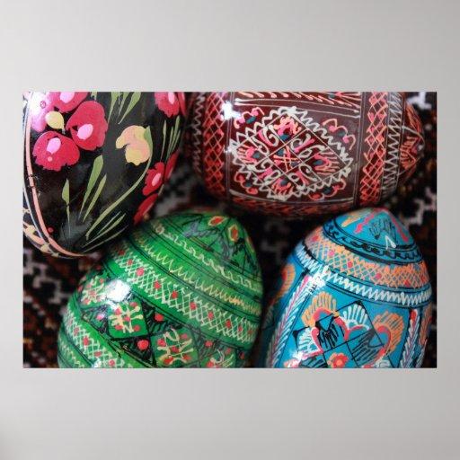 Pysanky ucraniano - ovos da páscoa impressão