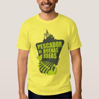 Qawana Wear Pescador de buenas ideas Camisetas