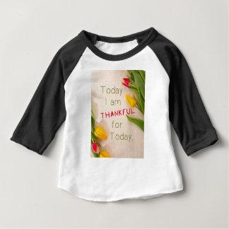 Qoutes inspirador grato camiseta para bebê