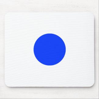 Quadrado azul CircleTrans-3 do círculo o MUSEU Zaz Mouse Pad