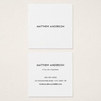 Quadrado, cartões de visitas brancos