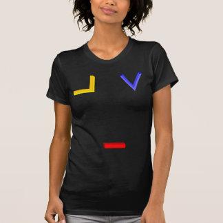Quadrado, compasso, e símbolos do umbigo camisetas