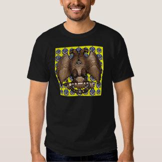 Quadrado & compasso escoceses amarelos do rito t-shirts