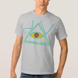 Quadrado-Compasso Illuminati Camisetas